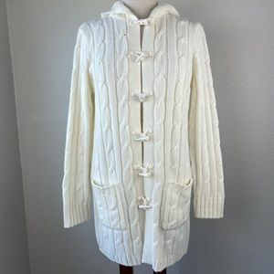 NWOT Carolyn Taylor Hooded Sweater Jacket Size S